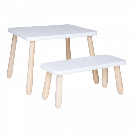Minimal wood kid bench Set