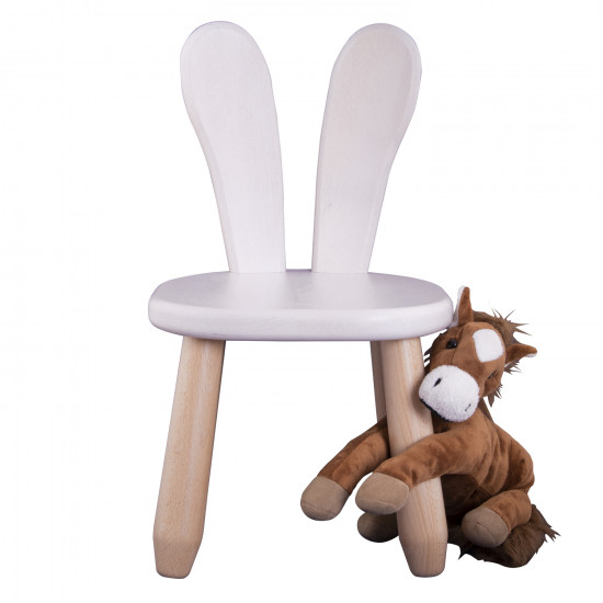 Natur White Bunny wood kid chair