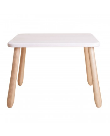 Natur White wood kid table