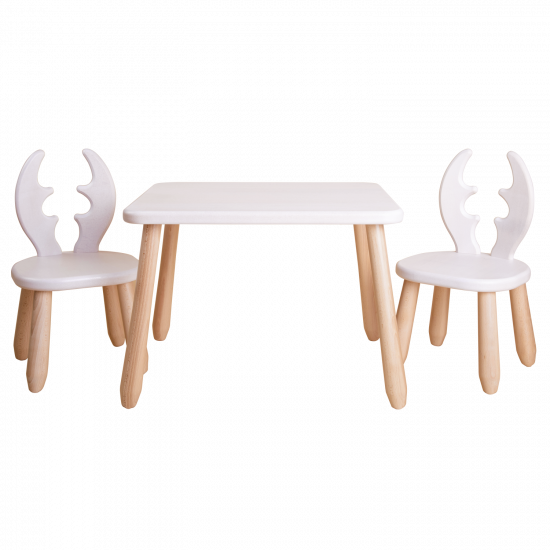 Natur White Deer wood kid set