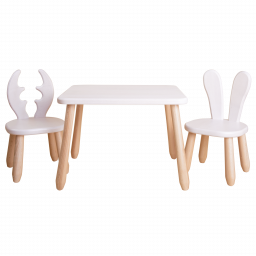 Natur White Wild wood kid set